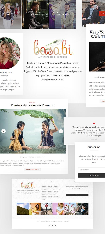 Basabi - Blog WordPress Theme - 1